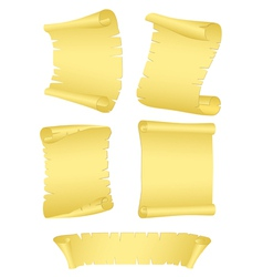 roll old paper vector image