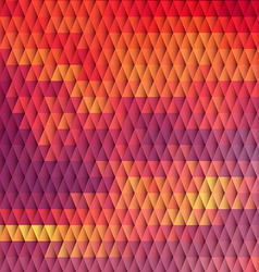 Sundown themed background with diamond grid vector image vector image