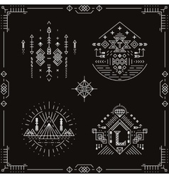 tribal ethnic elements vector image vector image