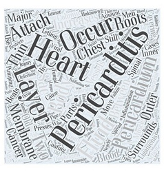 What is Pericarditis Word Cloud Concept vector image vector image