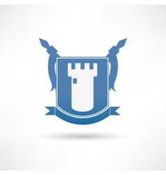 fortress icon vector image