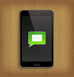 green text bubble in phone vector image