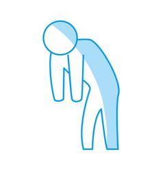 man silhouette depressed vector image