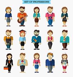 Set of 15 professions Meteorologist hairdresser vector image vector image
