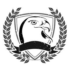 Grunge eagle head emblem vector image vector image