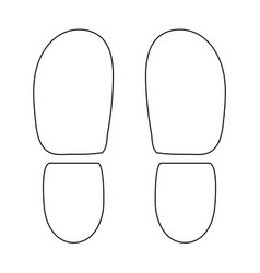 traces the heels of shoes the black color icon vector image