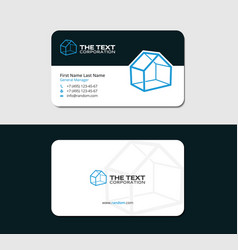 Modern business card for realtor vector