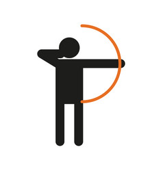 simple archery sport figure symbol graphic vector image