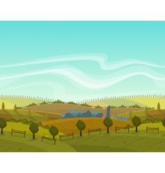Spring seamless landscape background vector