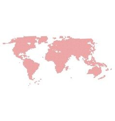 World Map from Hearts vector image vector image