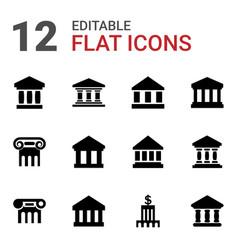 12 column icons vector