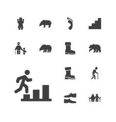 13 walking icons vector