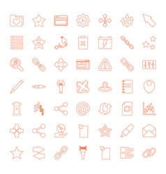 49 interface icons vector image