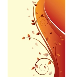 Abstract background with wave and floral elements vector image