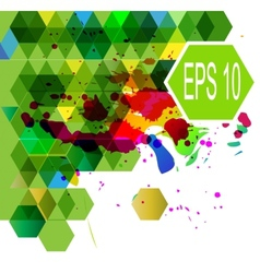 Abstract Hexagonal multicolor vector image