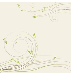 Abstract spring background with some plant swirls vector
