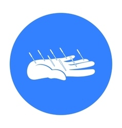Acupuncture icon black Single medicine icon from vector image