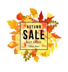 Autumn sale best choice have fun banner vector