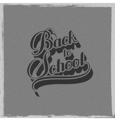 Back To School retro label vector