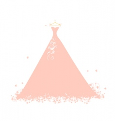 beautiful dress pink on hangers vector image