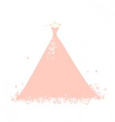 beautiful dress pink on hangers vector image vector image