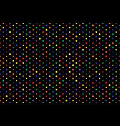 black polka dots different size color circles vector image