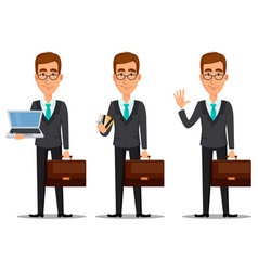 business man cartoon character vector image