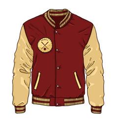 Cartoon baseball jacket sportswear vector
