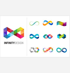 Colorful abstract infinity endless icon vector