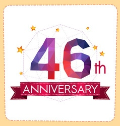 Colorful polygonal anniversary logo 2 046 vector