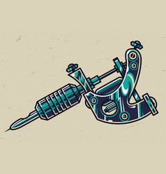 colorful tattoo machine concept vector image