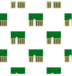 computer chipset pattern flat vector image