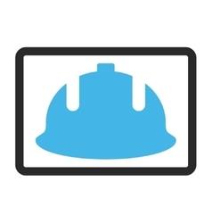 Construction Helmet Framed Icon vector