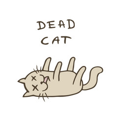 cute cat was poisoned and died vector image
