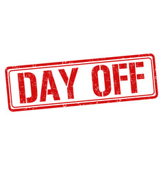 Day off sign or stamp vector