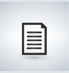 Document icon isolated for graphic and web design vector