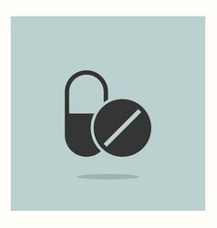 drugs icon simple vector image