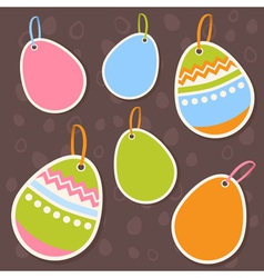 Easter painted colorful eggs discount sale sticker vector