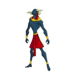Egyptian god of water khnum vector