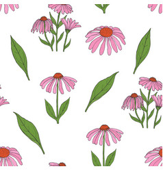 Elegant botanical seamless pattern with gorgeous vector