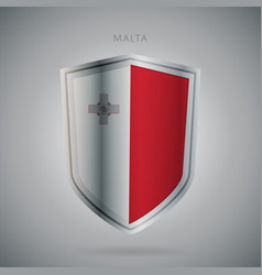Europe flags series malta modern icon vector