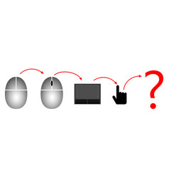Evolution computer mouse vector