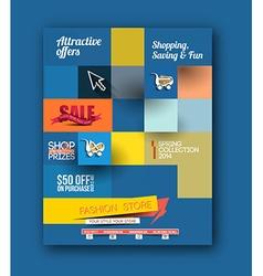 Fahion Shopping Center Flyer vector image