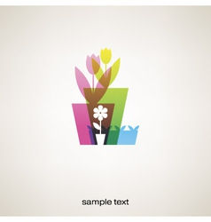floral spring card vector image
