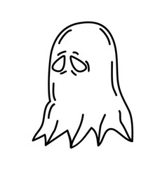ghost mask icon doodle hand drawn or black vector image