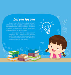 Girl thinking idea vector