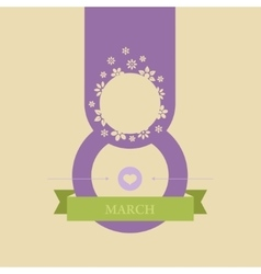 greeting card on the day of March 8 vector image