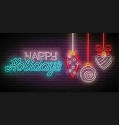 Greeting card with christmas decorations vector