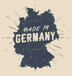 Hand drawn made in germany stamp vector