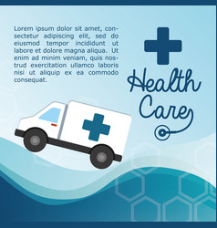 Health care ambulance service vector